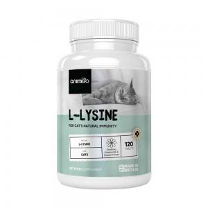 L-lisina para gatos - Suplemento de ayuda con inmunidad natural para gatos - 120 tabletas Blandas - Animigo