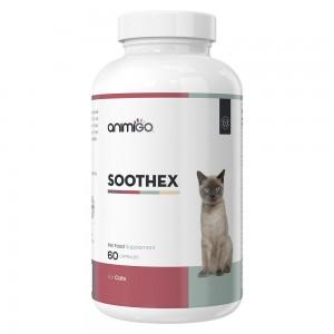 Soothex para gatos - Suplemento calmante natural para gatos estresados y ansiosos - 60 cápsulas - Animigo